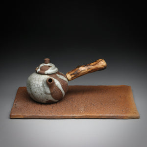 textured clay slab teaboat 13 x 20cm