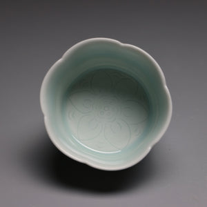 qing bai glaze porcelain teacups 100ml