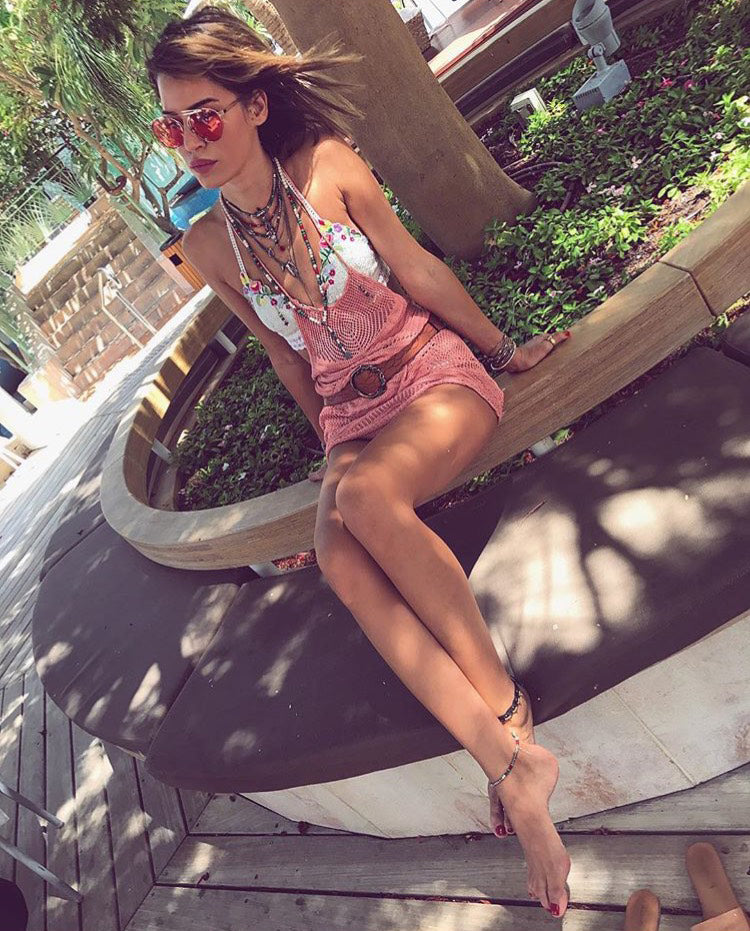NATALY DADON WEARS FOR ART'S SAKE DESIGNER SUNGLASSES T-SHIRT CHERRY