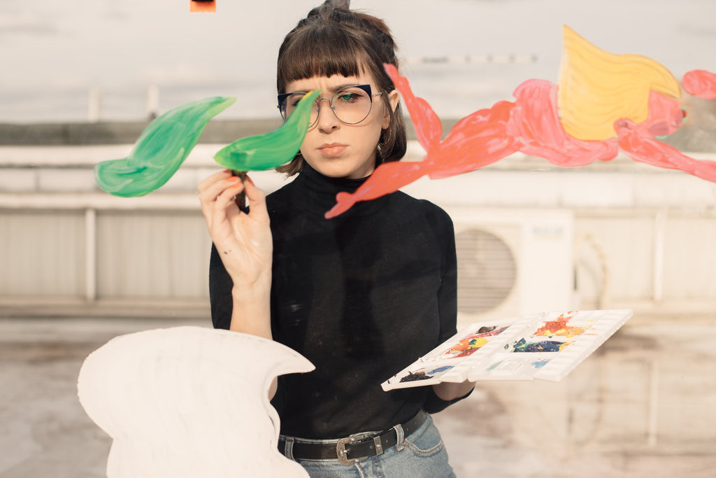FOR ART'S SAKE DESIGNER EYEWEAR ARTIST COLLABORATION PROFILE WITH LUCY CALDER