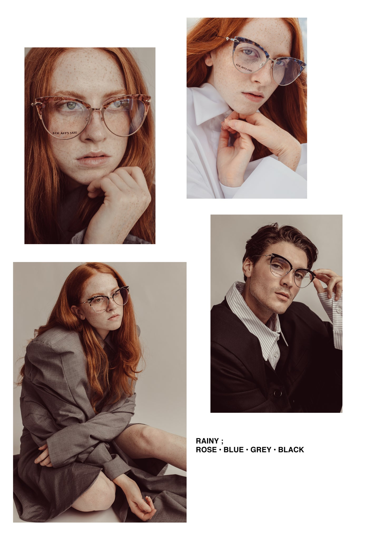 FOR ART'S SAKE OPTICAL COLLECTION editorial lookbook