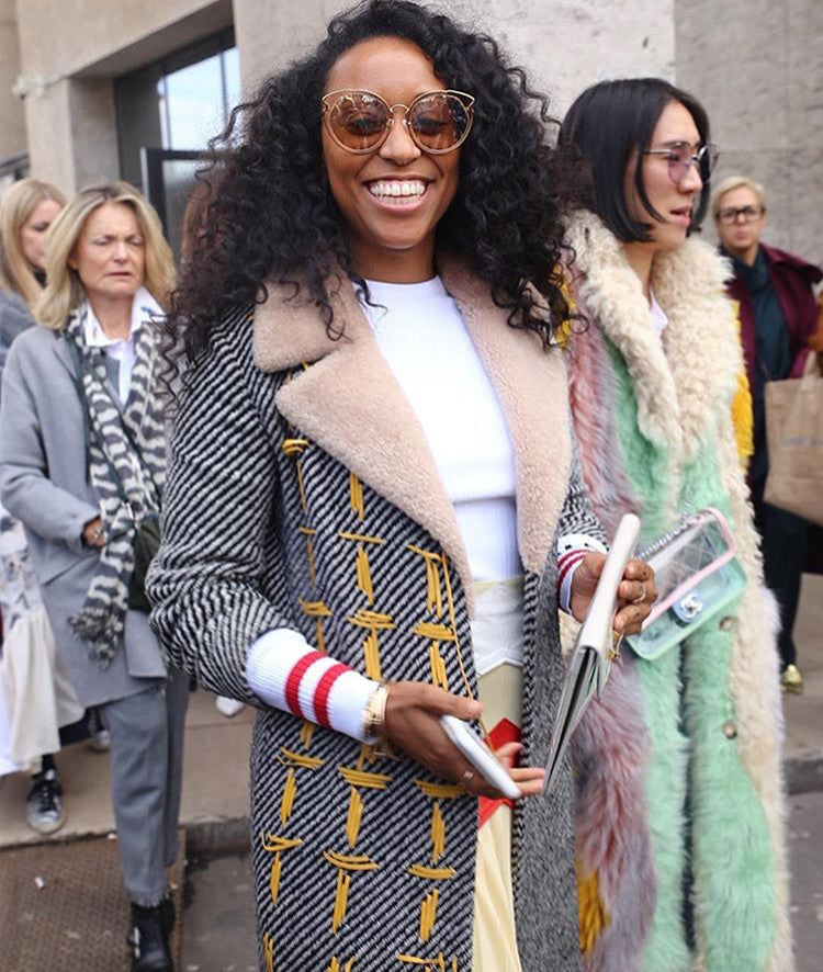 SHIONA TURINI WEARS FOR ART'S SAKE AW18 NEW COLLECTION DESIGNER SUNGLASSES ARTIST PEACH AT PARIS FASHION WEEK PFW