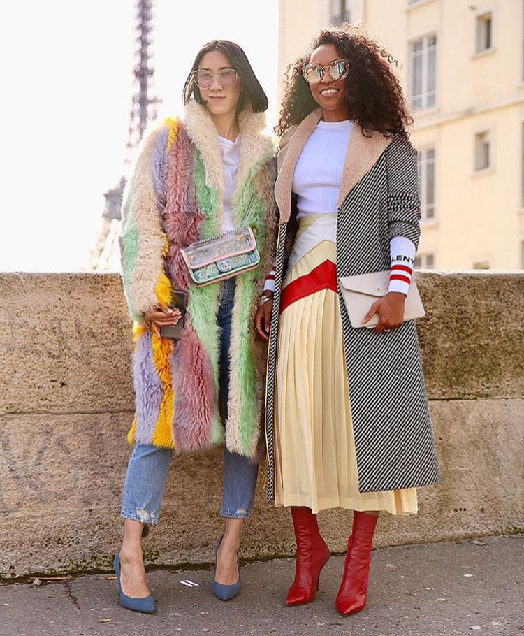 EVA CHEN WEARING FOR ART'S SAKE AW18 NEW COLLECTION DESIGNER SUNGLASSES CAT PURPLE AND SHIONA TURINI WEARS FAS ARTIST PEACE