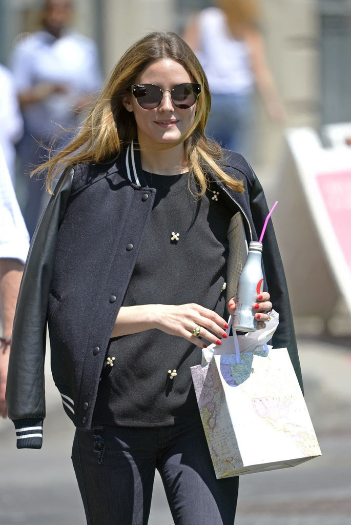 Olivia Palermo in New York City in For Art's Sake Honeytrap Black