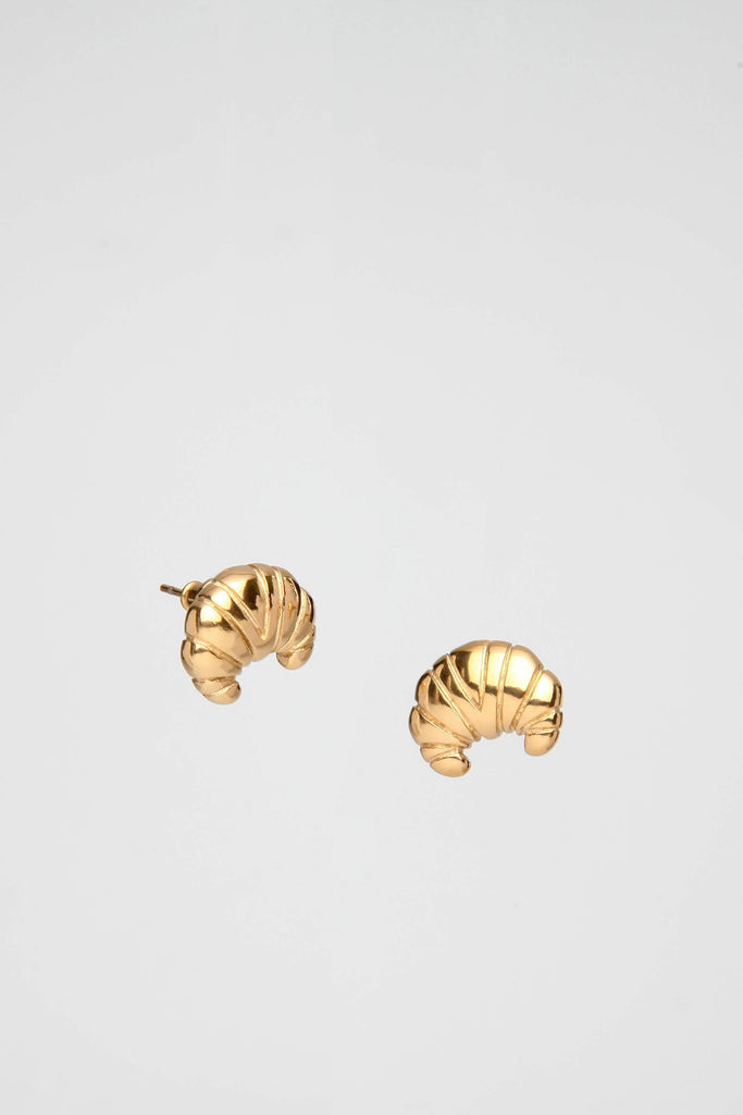 Croissant Earrings Gold