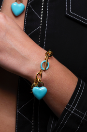 The Kiss Bracelet Blue