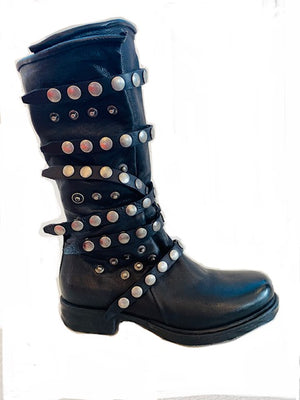 AS98 Tall Snap boot black