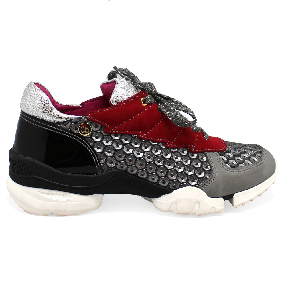 ChaniiB aqua grey/red walking shoe, sneaker