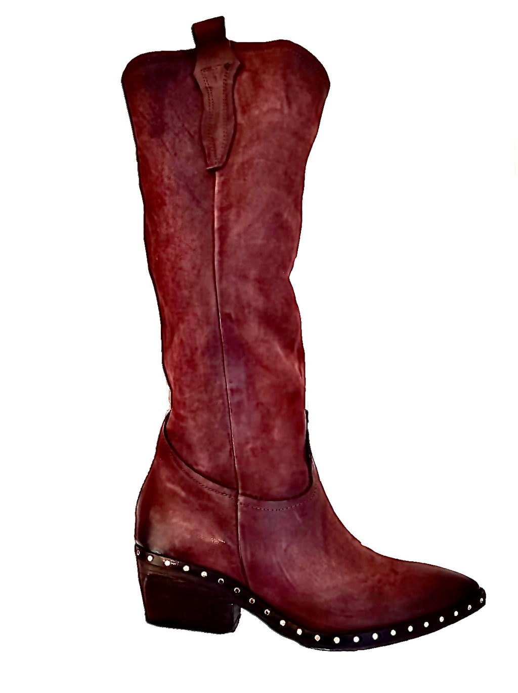 AS98 Tall boot Burgandy