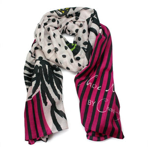 Betty Scarf Deco Dot Pink