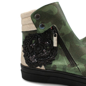 ChaniiB Chat Military boot available at Shoe Muse