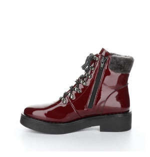 Bos N Co Flair Bordeaux Patent Waterproof
