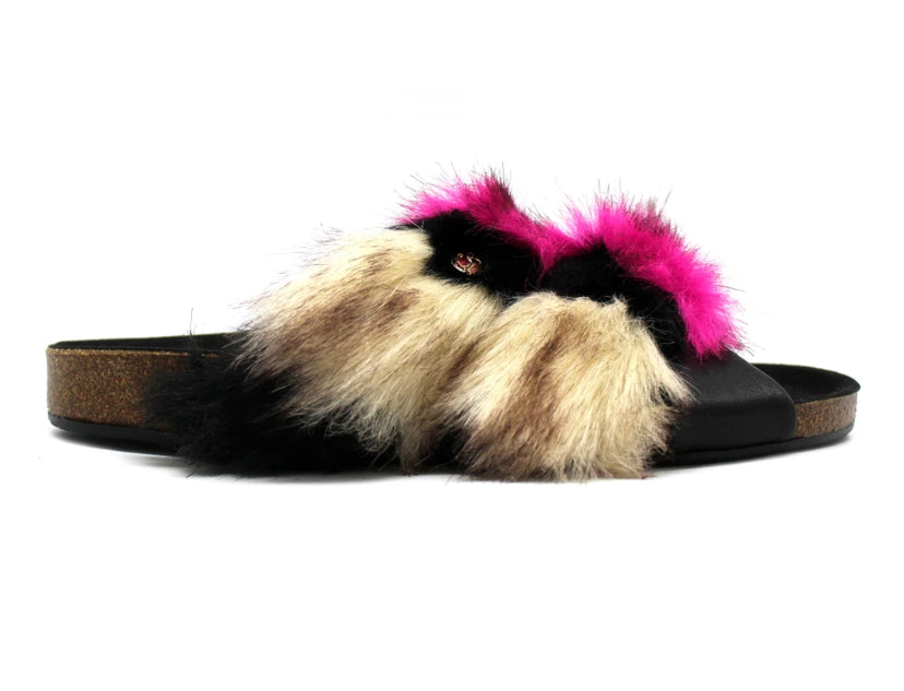 Licorn Slipper Faux Furr Pink