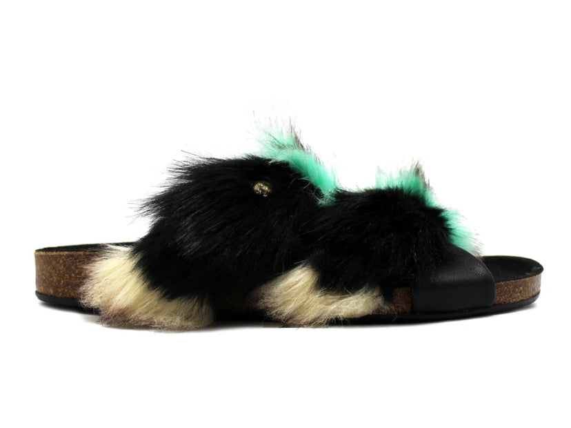 Licorn Slipper Faux furr Turquoise