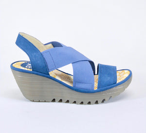 YAJI Blue Strappy Sandals