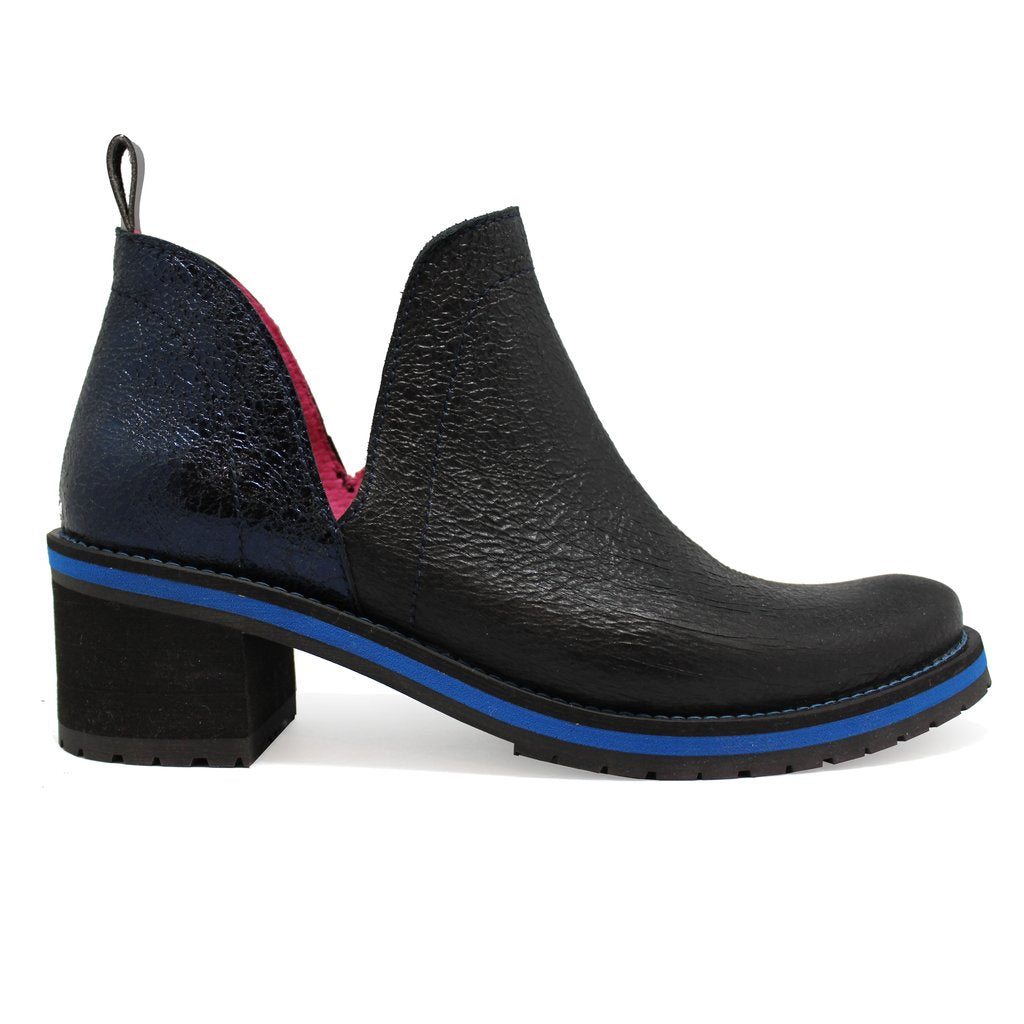 ChaniiB Zigg in black blue boot available at Shoe Muse