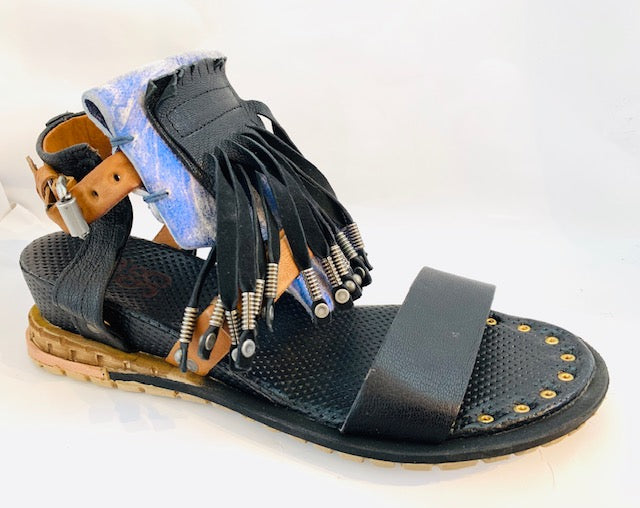 AS98 SANDAL BLUE/BLACK