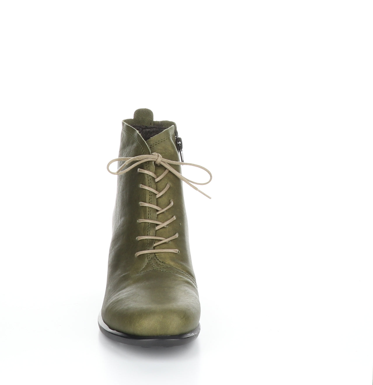 Fly London Inet in olive boot available at Shoe Muse