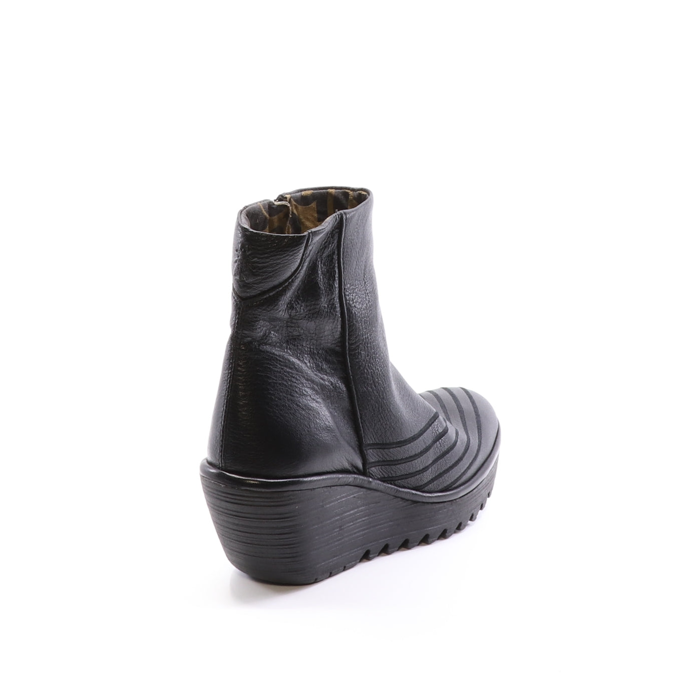 Fly London Yeni black boot available at Shoe Muse