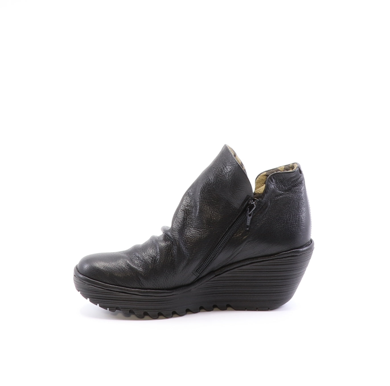 Fly London Yip black boot available at Shoe Muse