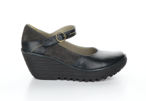 Fly London Yuko dark petrol shoe available at Shoe Muse