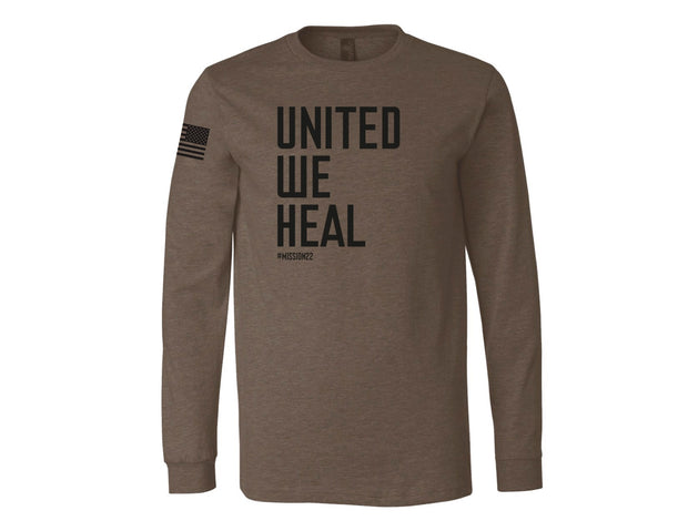 Mission 22 Heather Brown Long Sleeve Shirt