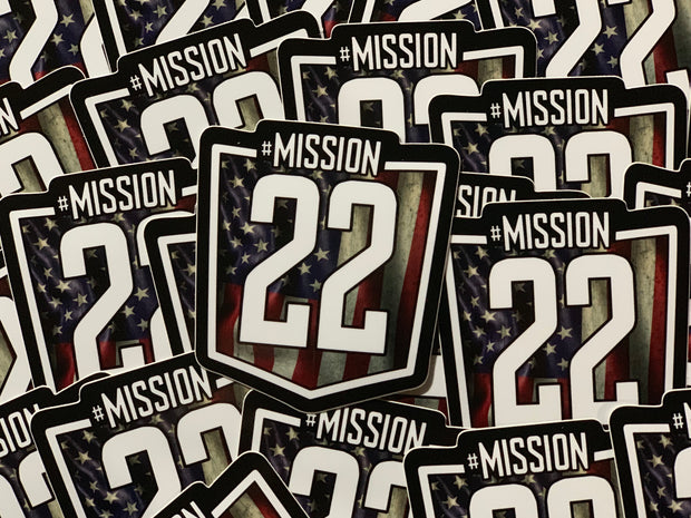 Mission 22 Flag Decal