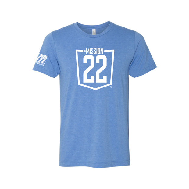 Mission 22 Triblend Blue Tee