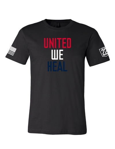 M22- Red White and Blue United We Heal Tee