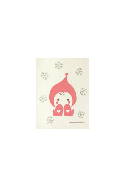 Snowflakes Girl Card