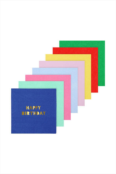 Happy Birthday Napkins Multi Color