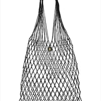 Linen Knotted Bag Black