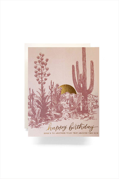 Cactus Sunset Birthday Card