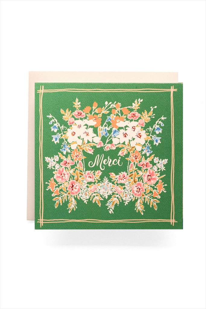 Handkerchief Merci Card