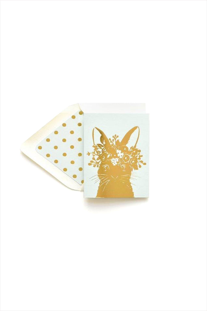 The First Snow Rabbit in Gold Foil Card