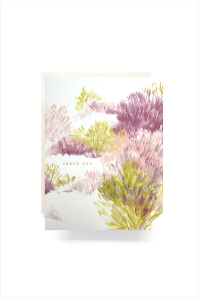 Heathered Thank You Card