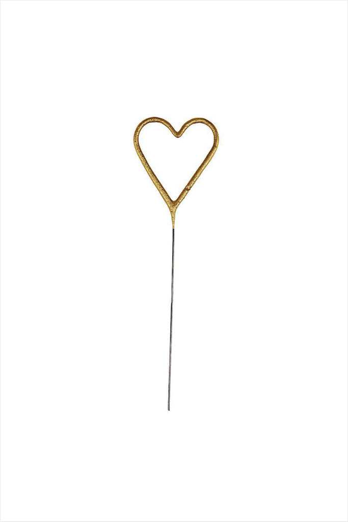 Mini Gold Sparkler Heart Candles