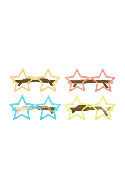 Paper Star Party Glasses Multicolor