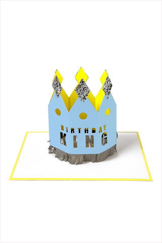 Crowned King Birthday Card
