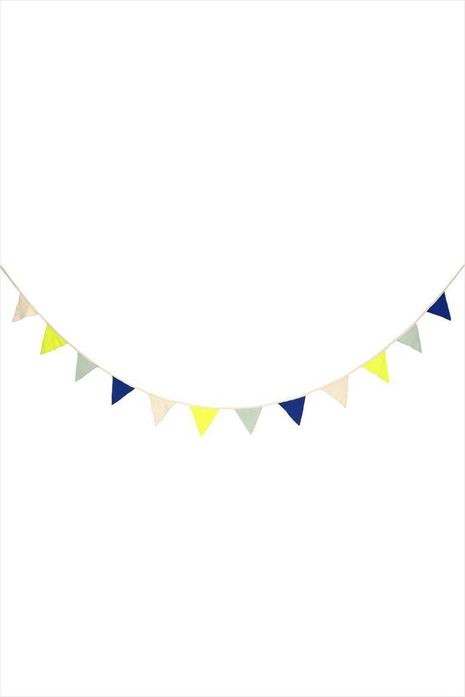 Knitted Bunting Flags Blue