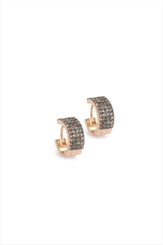 Tiny Hoops In Champagne Diamond (Pair)
