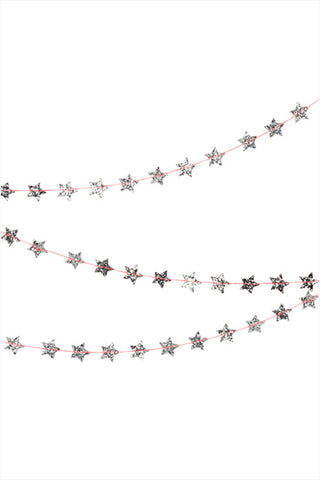 Mini Silver Star Garland