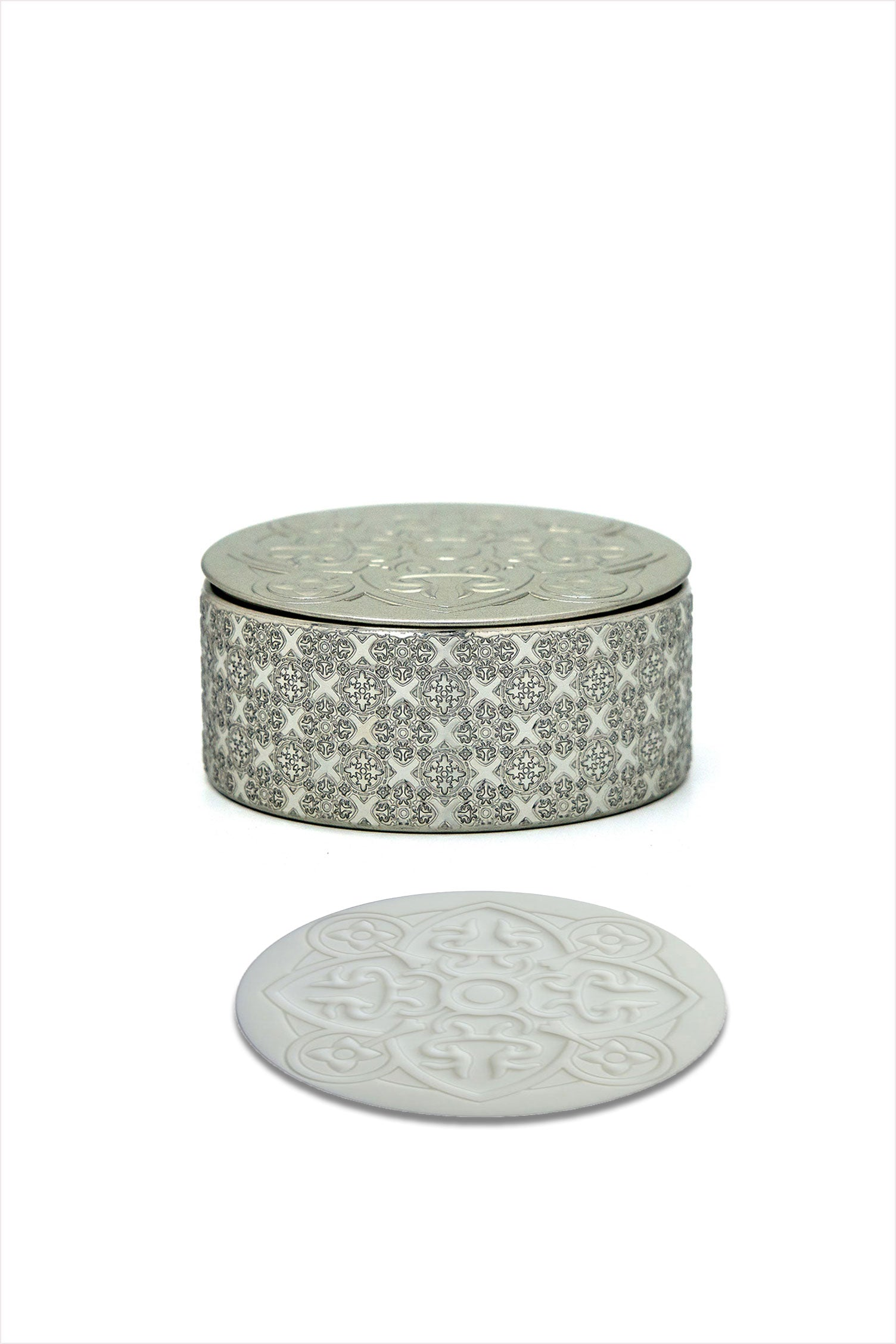 Silver Box Of Six Coasters