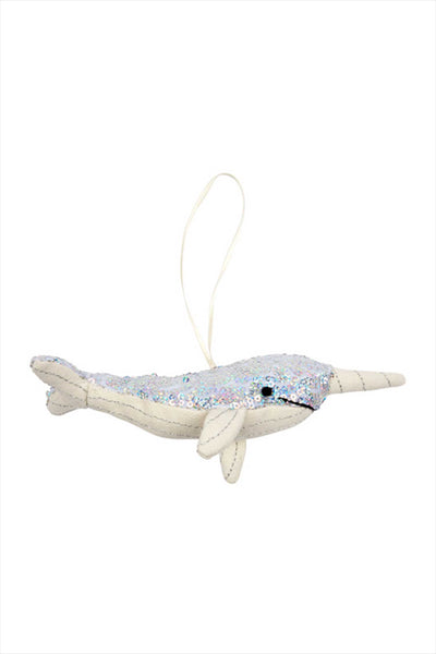 Sequin Narwhal Ornament Tree Decoration