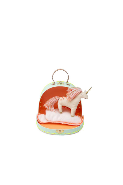 Unicorn Mini Suitcase Doll