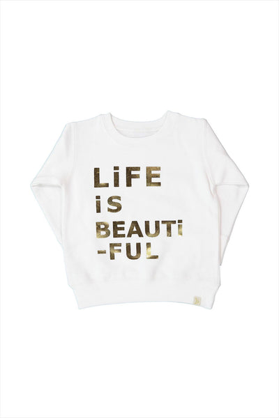 Children's Life Is Beautiful Fleece Pullover