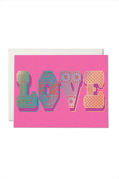 Love Typographer FOIL Card