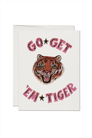 Go Get 'Em Tiger Encouragement Card