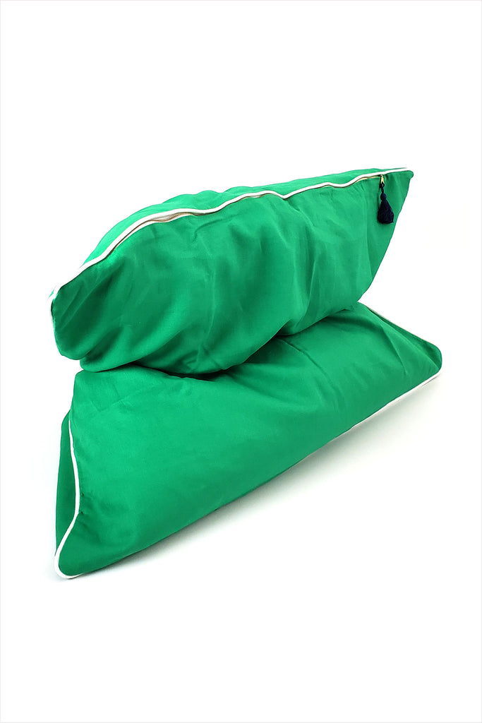 Mini Throwbed Green With Piping