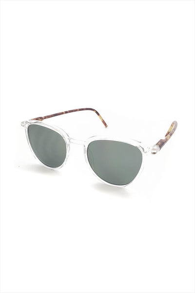 Ciqi Curtis Clear With Green Sunglasses
